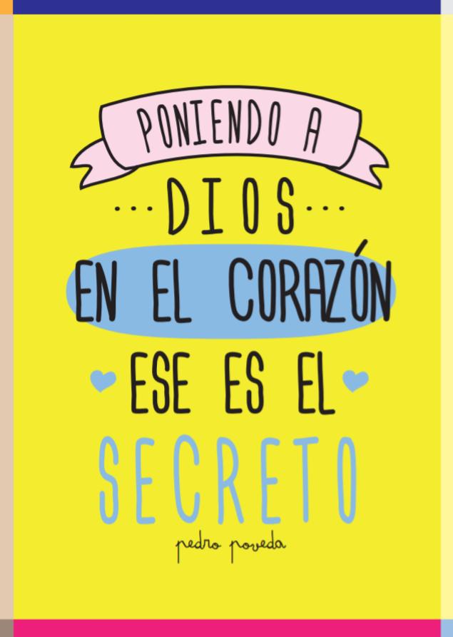 """""""Poniendo a Dios en el corazón ese es el secreto"""" Pedro Poveda"""